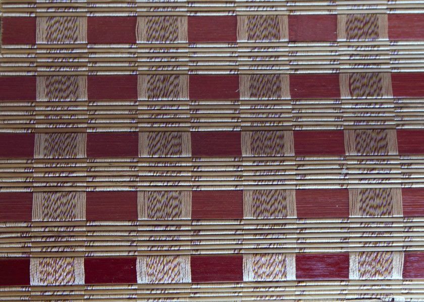 Jute Bamboo Roll Up Window Blind Natural Dyed Color Restaurant Use