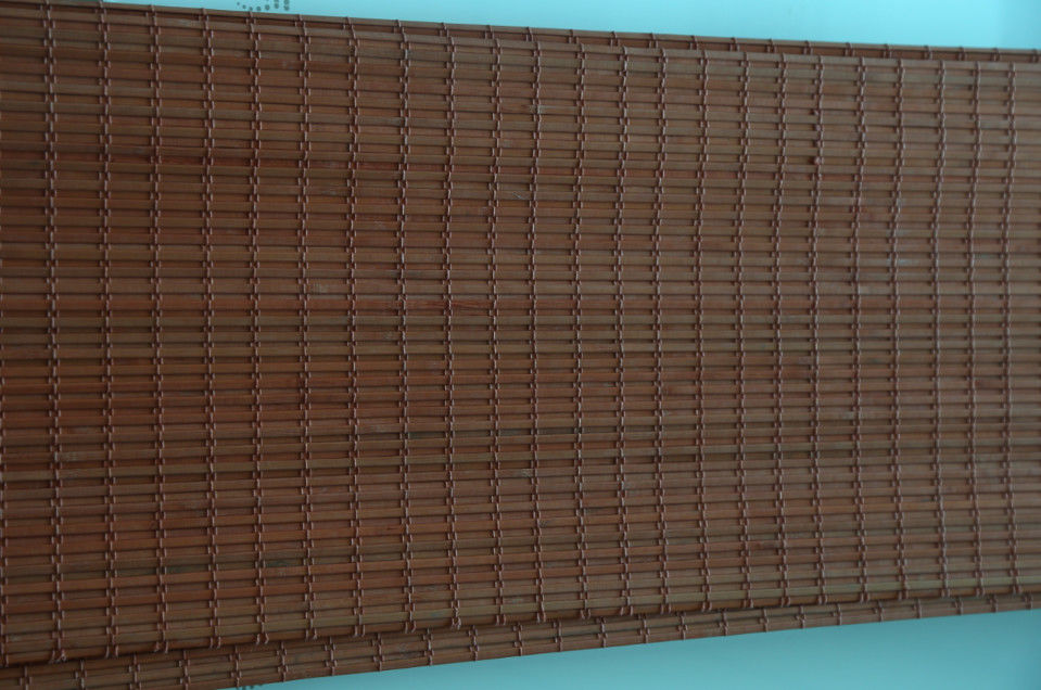 Wear Resistant Bamboo Carpet , Bamboo Roman Window Shades Insect Resistant