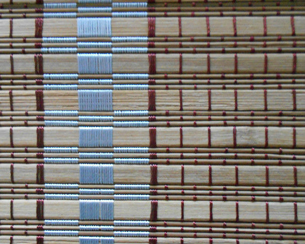 Elegant Bamboo Vertical Blinds , Roman Outdoor Bamboo Shades Beautiful Pattern