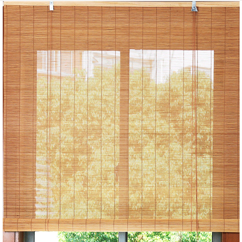 Elegant Color Outdoor Roll Up Bamboo Blinds For Sweat Stream Room 0.5-3mm Slat