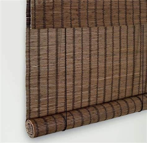 Natural Bamboo Roller Window Shades Strong But Flexible Compact Framework